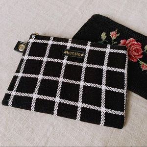 Black & White Cosmetic Clutch Bag Pouch
